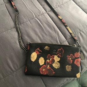 Kylie Textured Floral Crossbody Clutch